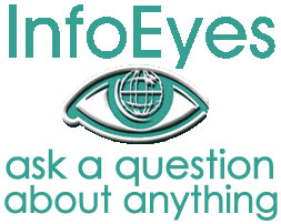 Info Eyes logo; white background; large size; Ask a question about anything