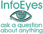 Info Eyes logo; white background; small size; Ask a question about anything