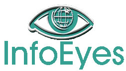 Info Eyes logo; white background; large size; vertical